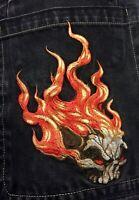 JNCO Jeans - VINTAGE FLAMING SKULL 34x30