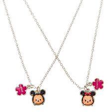 Disney Tsum Tsum Best Friend Necklace Set of 2 Mickey Mouse Minnie BFF Besties