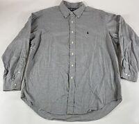 Polo Ralph Lauren Yarmouth Sz 17-34/35 Black 100% Cotton L/S Button Shirt