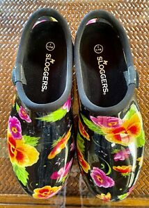 SLOGGERS Women's Shoes Garden Rain Floral Waterproof Colorful Size 7 NWOT