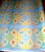 VTG 2001 OOP Bedtime Original Baby Jungle GinghamNursery Print Bumper Ctn Fabric