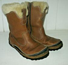 MERRELL Women's Taiga Zip Stone Waterproof Leather Wellington Winter Boot Sz 8.5