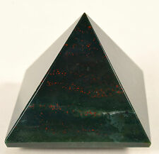 """2.1"""" Natural BLOODSTONE Crystal Pyramid Green Red Heliotrope Agate Mineral India"""