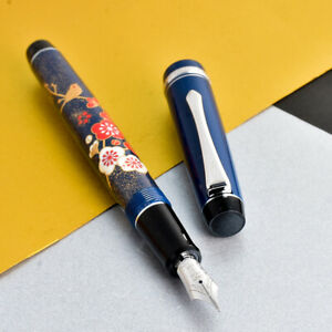 Pilot Custom Heritage 91 Blue Japanese Urushi Art 14K Gold M Nib Fountain Pen