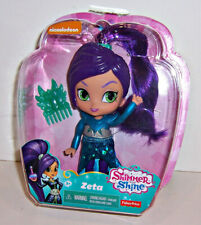 "FISHER PRICE Nickelodeon SHIMMER & SHINE ""ZETA"" 6"" DOLL Hair Comb & Stickers NEW"