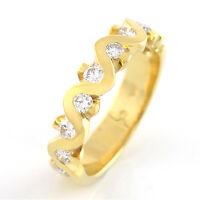 RING mit 0,50 ct TW-VSI Diamanten in 14K/585 Gelbgold - Größe 55 - 4,8 g