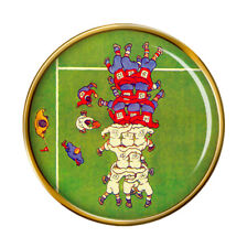 Rugby Scrum Pin Badge