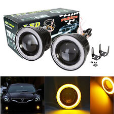 "2x 3"" Yellow Halo Projector Bumper Driving Led Fog Light Lamp Headlamp DRL Car"