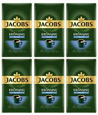 6 x JACOBS Kronung DECAF Ground Coffee Caffeine Free 250g 8.8oz