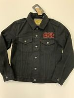 Levi x Star Wars Darth Vader Denim Jean Trucker Jacket Black Size XS NWT