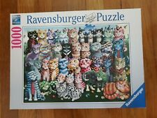 2017 Ravensburger Cat Family Reunion Jigsaw Puzzle 1000 Pieces Complete