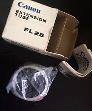 UNUSED Canon Extension Tube FL25 Original Box Instructions in English & Japanese