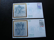 FRANCE (timbre service) -2  enveloppes 1er jour 23/10/1982 (cy6) french
