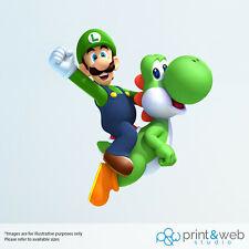 Luigi riding Yoshi Decal Sticker Bedroom Vinyl Kids