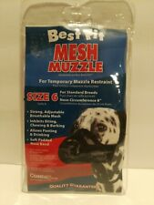 Standard Breeds Male Female Puppy Dog Pet Adjustable Mesh Breathable Muzzle sz 6