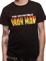 The Invincible Ironman Official Marvel Comics Black Mens T-shirt