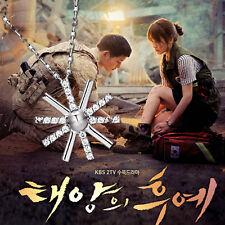 Korea TV Descendants Of The Sun Song Hye Kyo Floral Choker Sun Pendant Necklace