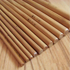 "12 Pcs 6"" Bamboo Handle Crochet Hooks Knit Craft Knitting Needle Weave Yarn Set"
