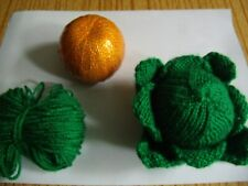 KNITTING PATTERN AND WOOL for Christmas Sprout Chocolate Orange Cover