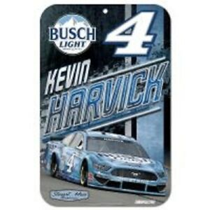 Kevin Harvick #4 2021 Busch Light 11 x 17 Plastic Sign Free Shipping Instock