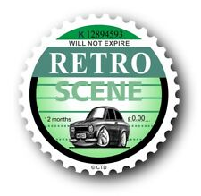 Novelty Retro Tax Disc Motif & Koolart Mk1 Ford Escort Mexico image Car sticker
