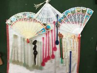"""AWESOME VINTAGE COCKTAIL STIRRERS COLLECTION, VINTAGE PLASTIC FANS & """"ZULU LULU"""""""