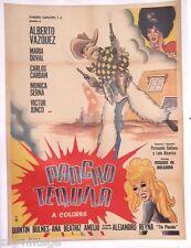 Vtg Mexican Movie Poster - 1970 Pancho Tequila (Alberto Vazquez / Maria Duval)