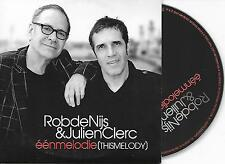 ROB DE NIJS & JULIEN CLERC - Een melodie (This melody) CD SINGLE 2TR 2007 RARE!