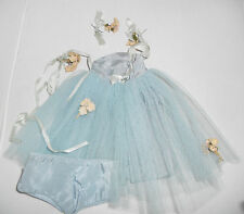 Doll Clothing Terri Lee Prom Blue Net Formal with Flowers Panties 1950s