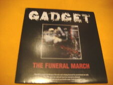 Cardsleeve Full CD GADGET The Funeral March PROMO 17TR 2006 grindcore