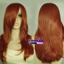 62cm Copper Red Heat Styleable Layers Drag Bangs Cosplay Wigs 66_350