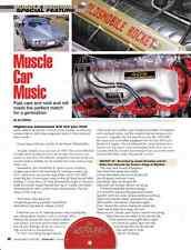 MUSCLE CAR MUSIC  ~  WONDERFUL 4-PAGE ARTICLE