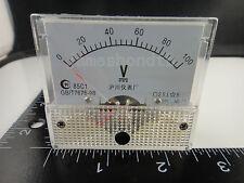 DC 100V Analog Panel Volt Voltage Meter Voltmeter Gauge 85C1 White 0-100V DC