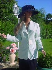 CASHMERE ESCADA COUTURE Kanin Blazer 36/38 NP1180,-GOLF mint grün gold lila rosa