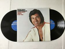 Engelbert Humperdinck Englebert Sings For You 1977 gatefold 2 vinyl Lps Mint