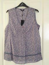 M & Co (Mackays) Ladies Ditsy Flowery Print Lilac Sleeveless Top Size 12 BNWT