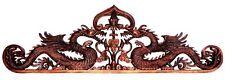 Tolles filigranes 80 cm HOLZ RELIEF Drache Asien Bali Dragon Feng Shui Relief30
