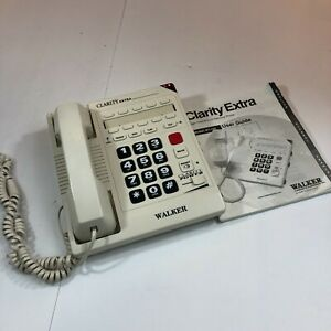 Clarity Extra Enhanced Amplified Big Button Corded Phone W1100 (W/ power supply)