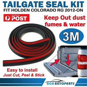 Tailgate Seal Kit for Holden Colorado RG UTE 12-ON Tail Gate Dust Seal 3M Rubber