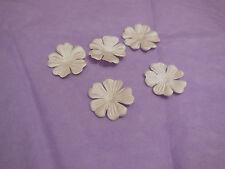 5pcs champagne tissu pétales de fleurs cheveux de mariage nuptiale accessoire bricolage en 2,5 cm