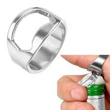 Bottle Stainless Steel Finger Band New Beer Bar Gift Open Nice Opener Ring r