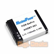 Camera Battery For GoPro Hero HD HERO HERO2 AHDBT-001 AHDBT001 Naked Motorsports