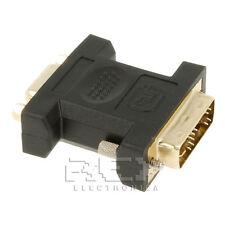 Adaptador DVI-A (12+5) Macho a VGA Hembra Negro v236