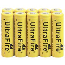 10pcs 3.7V 18650 9800mAh Li-ion Rechargeable Battery For Flashlight Torch LED EA