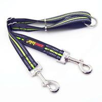 Reflective Dual Dog Leash for 2 Dogs, 1.8 ft Main Rope with 360 Swivel No Tangle