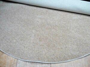72inches(183cm) circle shape rug BEIGE WOOL TWIST PILE CARPET #5099