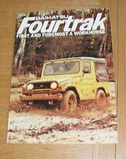 Daihatsu Fourtrak Brochure 1981-1982 - F20 F50 F60