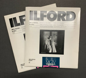 Lot of 2 ILFORD MULTIGRADE IV RC DELUXE - B&W 50 sheets total Glossy Paper