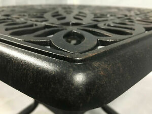 Patio outdoor end table pool side cast aluminum garden furniture Rust Free