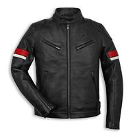 New Ducati Stripes Leather Jacket Men's S Black #987700183